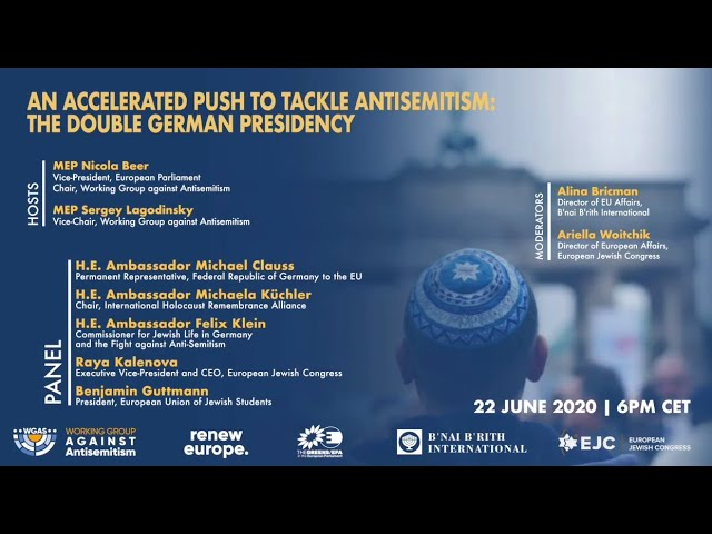 "Webinar : ""An Accelerated Push to Tackle Antisemitism : the Double German Presidency"""