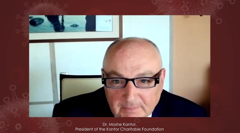 Dr. Moshe Kantor opens international medical conference on COVID-19 lessons