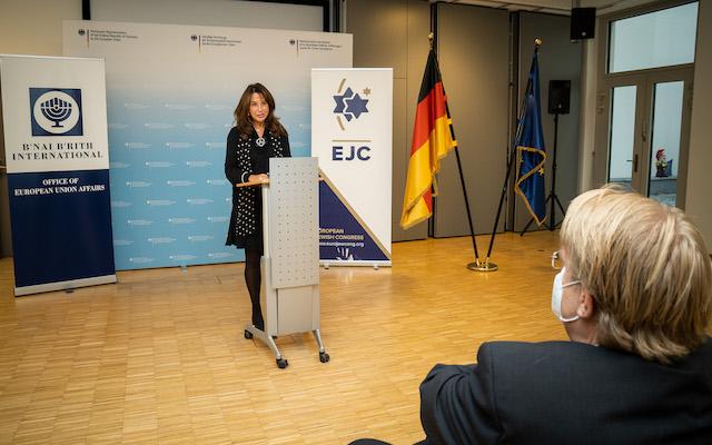 EJC Executive VP and CEO Raya Kalenova addressescommemoration ceremony of the Halle attack