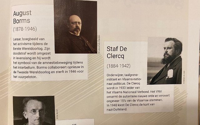 Flemish Parliament funds brochure honouring Nazi collaborators