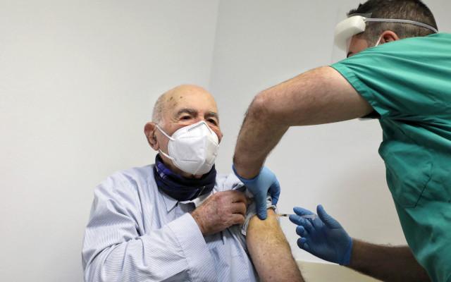 Auschwitz survivor Sami Modiano gets COVID-19 vaccine in Rome