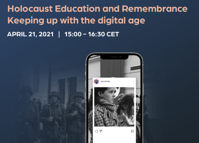 """Upcoming webinar : """"Holocaust Education and Remembrance. Keeping up with the Digital age""""."""