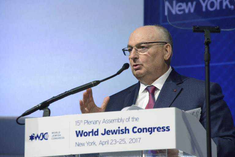 Dr. Moshe Kantor re-elected as Chair of the WJC Policy Council