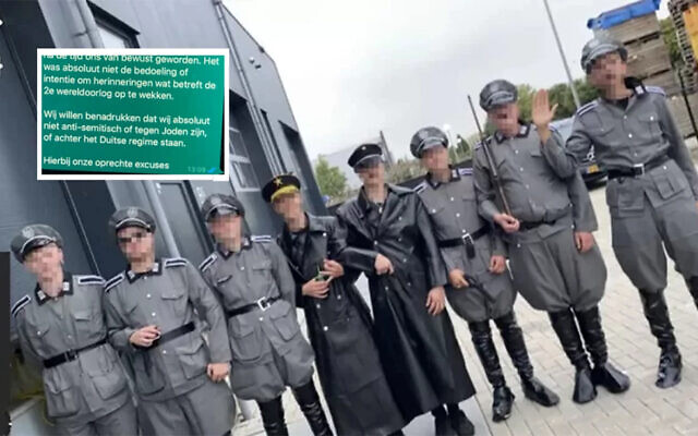 Men dressed as Nazis apologize for mock arrest at Dutch COVID protest