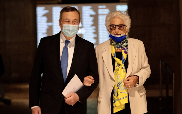 Italian PM Draghi visits Milan Shoah Memorial